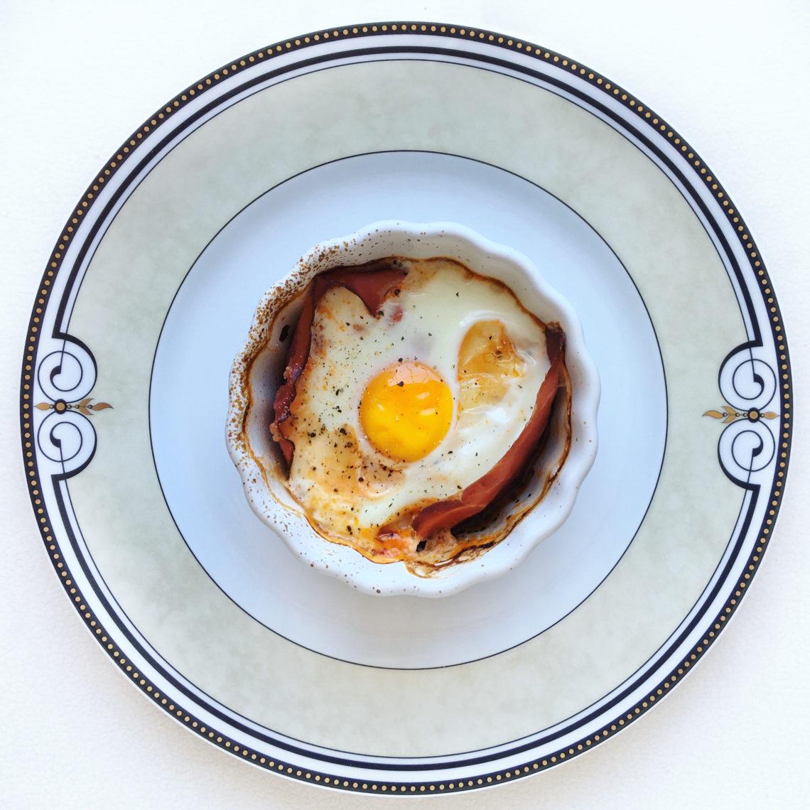 Jajko zapiekane w kokilce