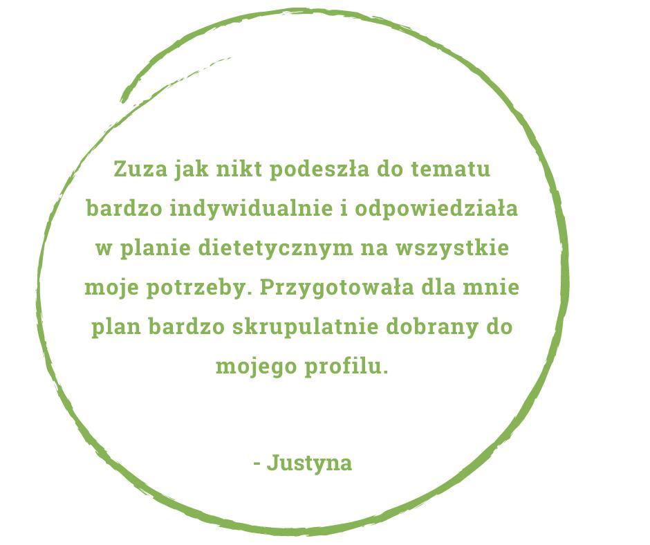 dietetyk Zuzanna Skonieczna - opinia pacjentów Justyna